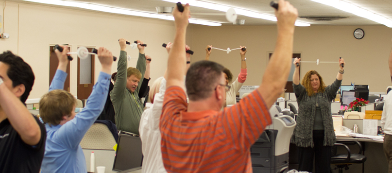 Exercise at Workplace warm-up occupational fitness
